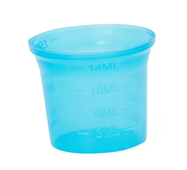25 mm X15 ml Temple shape Measuring Cup for ROPP Cap (Alkem Logo/Plain)