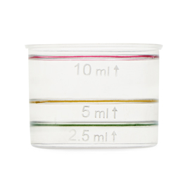 25 mm x 10 ml Measuring Cup Logo/Plain 3 colour printed